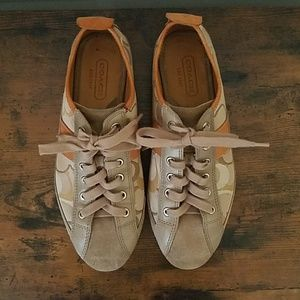 Coach Janae Leather and Logo Sneakers